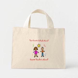 Professor/sacola favoritos da escola bolsas