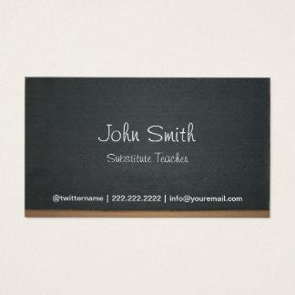 Professor Substitute do quadro simples Cartão De Visitas