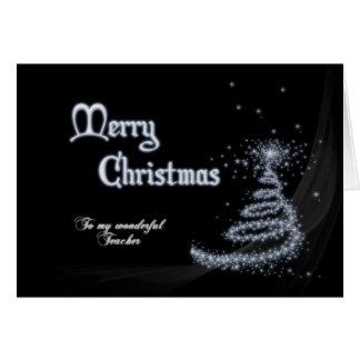 Professor, um cartão de Natal preto e branco