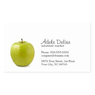 Professor verde minimalista de Apple Cartão De Visita
