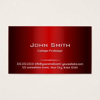 Professor vermelho profissional cartão de visita