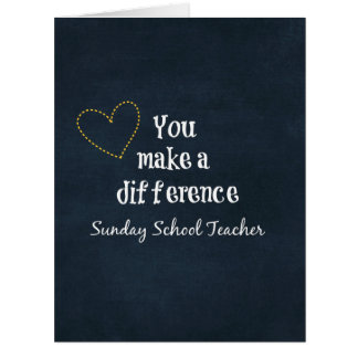 Professores de catequese cartão comemorativo grande