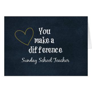 Professores de catequese cartão de nota