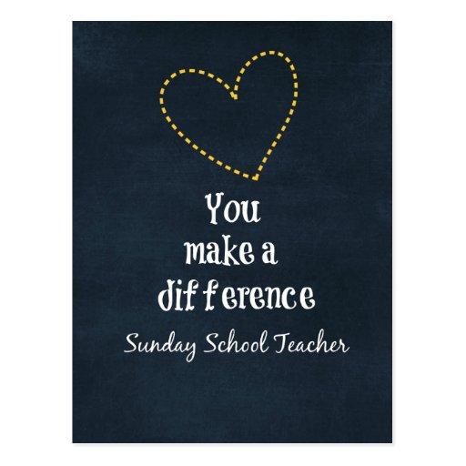 Professores de catequese cartão postal