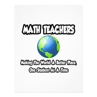 Professores de matemática… que fazem ao mundo um l modelo de panfletos