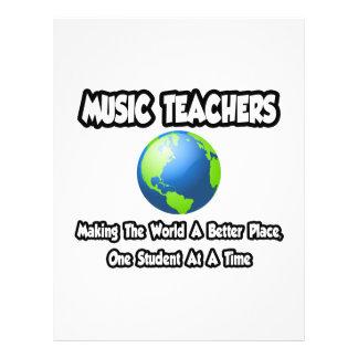 Professores de música… que fazem ao mundo um lugar modelo de panfletos