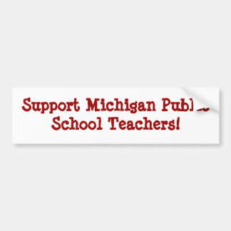 Professores do público de Michigan do apoio Adesivo Para Carro