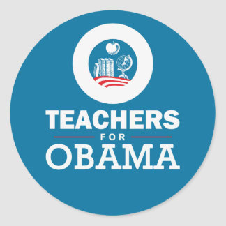 Professores para Obama Adesivo Redondo
