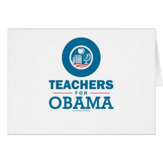 Professores para Obama Cartão Comemorativo