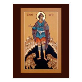 Profeta Daniel no cartão da oração do antro do