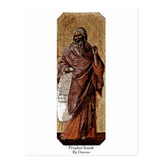 Profeta Isaiah por Duccio Cartão Postal