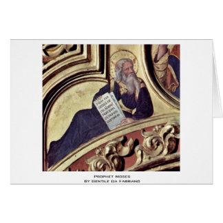 Profeta Moses por Gentile da Fabriano Cartões