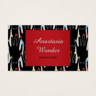 Profissão à moda abstrata do manicuro do teste cartão de visitas