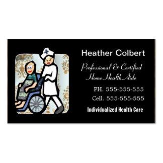 Profissional bonito do cuidador modelo cartão de visita