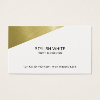 profissional branco moderno à moda cartão de visitas