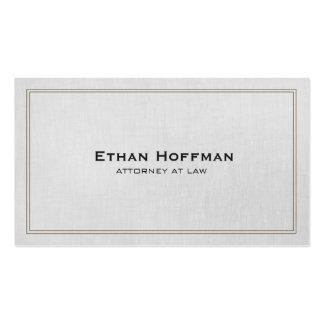 Profissional cinzento do advogado tradicional cartão de visita