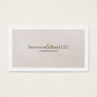 Profissional clássico do advogado da prática de cartão de visitas