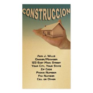 Profissional da construção e da manutenção modelos cartão de visita