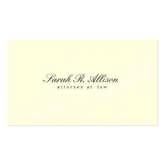 Profissional de creme minimalista elegante cartão de visita