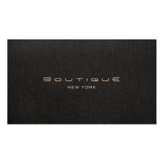Profissional de linho preto moderno elegante cartão de visita