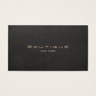 Profissional de linho preto moderno elegante cartão de visitas