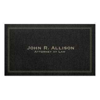 Profissional de linho preto tradicional simples do cartão de visita