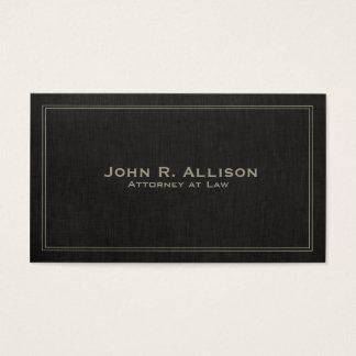 Profissional de linho preto tradicional simples do cartão de visitas