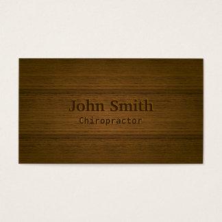 Profissional de madeira elegante do fundo do cartão de visitas