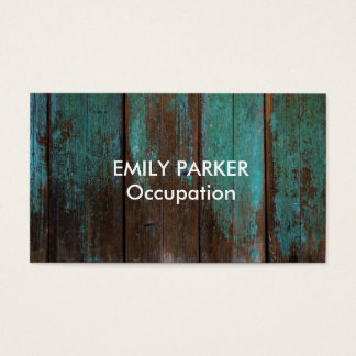 Profissional de madeira rústico afligido matizado cartão de visitas