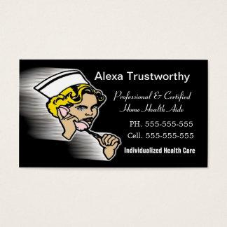 Profissional do cuidador cartão de visitas