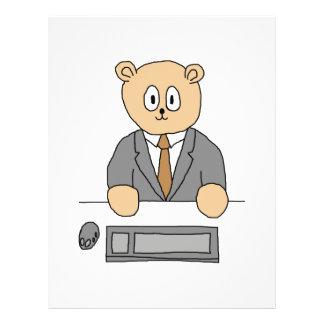 Profissional do funcionário camarário panfletos personalizados