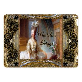 Profissional elegante de Marie Antoinette Cartão De Visita Grande