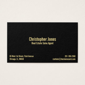 Profissional elegante do ouro preto do falso cartão de visitas