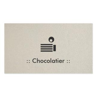Profissional elegante simples de Chocolatier Cartão De Visita