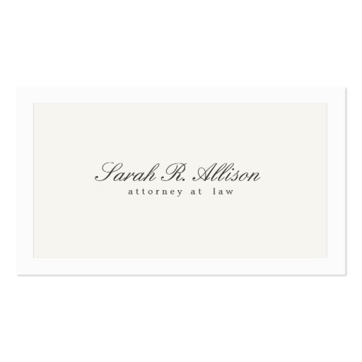 Profissional elegante simples do advogado modelo cartao de visita