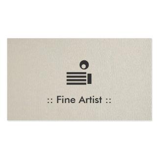 Profissional elegante simples do artista fino cartoes de visita