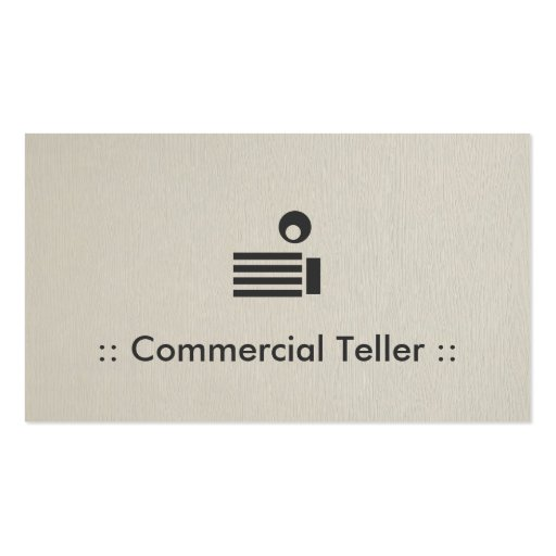 Profissional elegante simples do caixa comercial cartão de visita