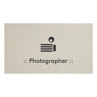 Profissional elegante simples do fotógrafo modelos cartoes de visita