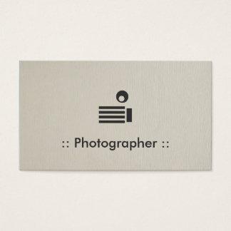 Profissional elegante simples do fotógrafo cartão de visitas