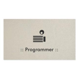 Profissional elegante simples do programador modelo cartoes de visita