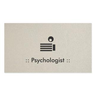 Profissional elegante simples do psicólogo modelo cartão de visita