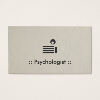 Profissional elegante simples do psicólogo cartão de visitas