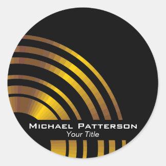 Profissional executivo moderno dos círculos adesivo