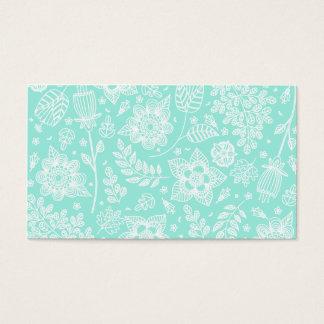 Profissional floral branco do teste padrão da cartão de visitas