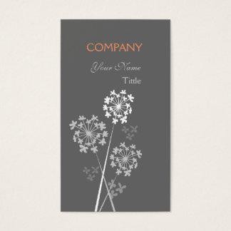 Profissional ideal extravagante elegante floral cartão de visitas