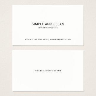 profissional liso/limpo branco elegante cartão de visitas