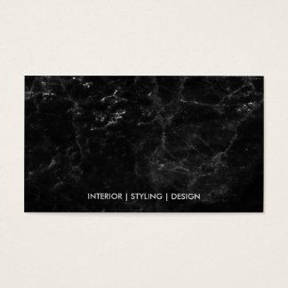 Profissional luxuoso de mármore preto moderno do cartão de visitas