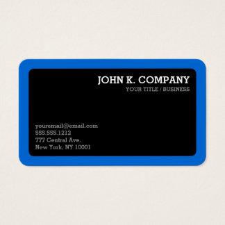 Profissional mínimo arredondado do preto azul da cartão de visitas