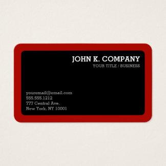 Profissional mínimo arredondado do preto vermelho cartão de visitas