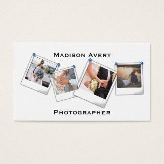 Profissional mínimo do fotógrafo da fotografia cartão de visitas